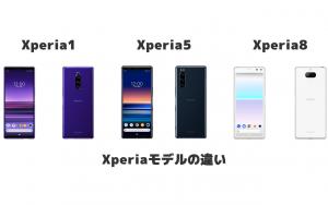 2019年発売モデルのXperia1、Xperia5、Xperia8の違い
